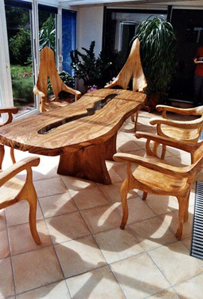 esstisch olivenholz m beldesign und kunstatelier nebelwasser kalleif. Black Bedroom Furniture Sets. Home Design Ideas